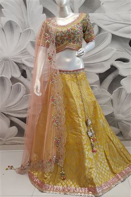 Elegant Yellow Color Designer Lehenga