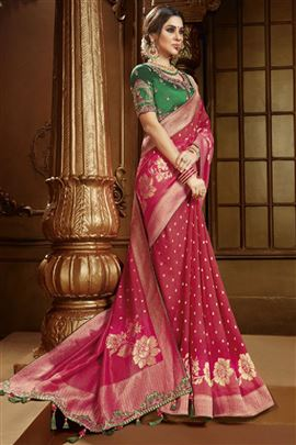 Lavishing Rani Color Designer Saree