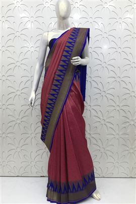 Majestic Crimson Color Silk Sarees