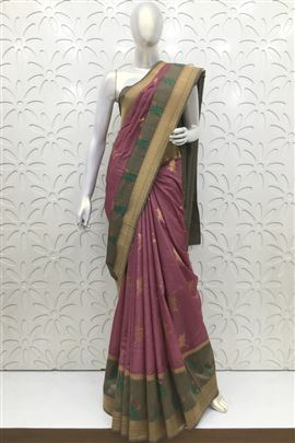 Superb  Violet Color Silk Sarees