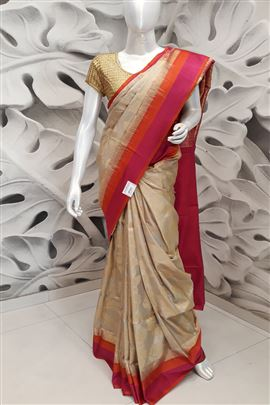 Superb Cream Color Silk Sarees